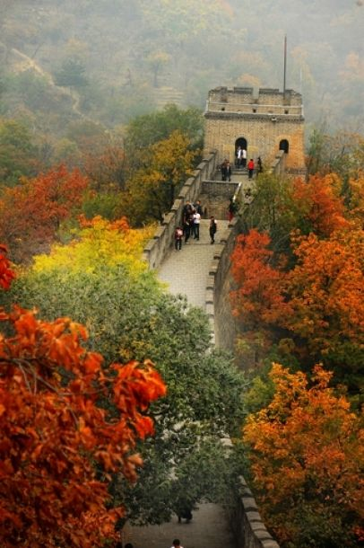 Great Wall of China at autumn time