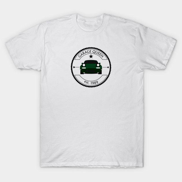 [Cars T-shirt] Mazda MX-5 / Miata NA Garage Queen British Racing Green