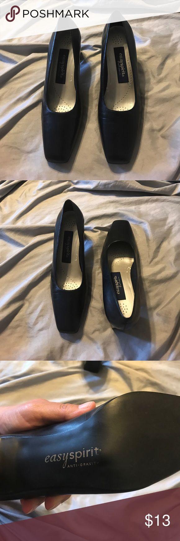 "Easy Spirit ""Camille"" darkest navy heel Leather upper. 2.5"" heel. Padded insole Easy Spirit Shoes Heels"
