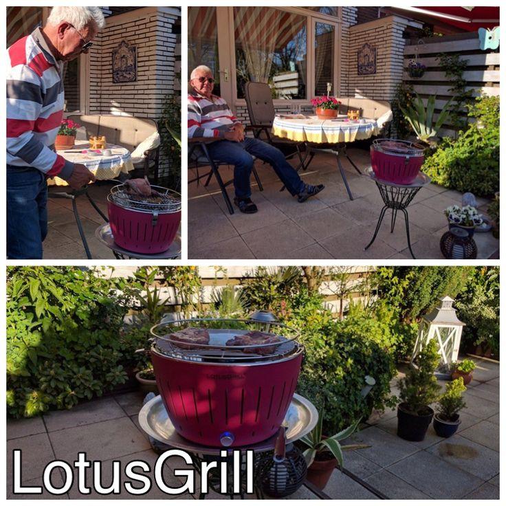 Wederom een tevreden klant, of je nu alleen bent of met meerdere personen, snel en eenvoudig rookvrij Barbecueën doe je op een Lotusgrill #tafelgrill #Lotusgrill #houtskool #bbq #Barbecue