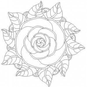 rose mandala coloring pages