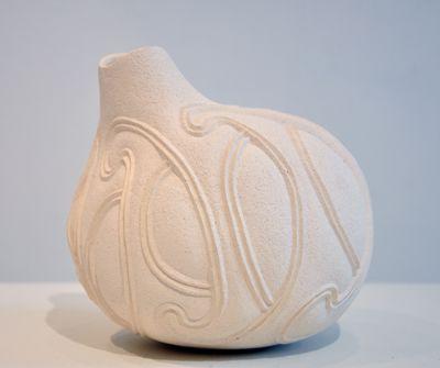 Hera Johns Kura Gallery Maori Art Design New Zealand Ceramic Sculpture Uku White Clay Te Kopu Ipu Pot
