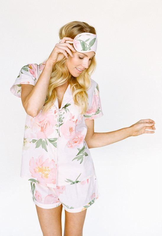 Romp around with all your bridesmaids in these cute little pajamas! Plum Pretty Sugar Shortie Set | $45