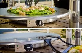 "This portable CND Teppan grills feature the patented ""Shallow Dip"" technology. cookndine.com"
