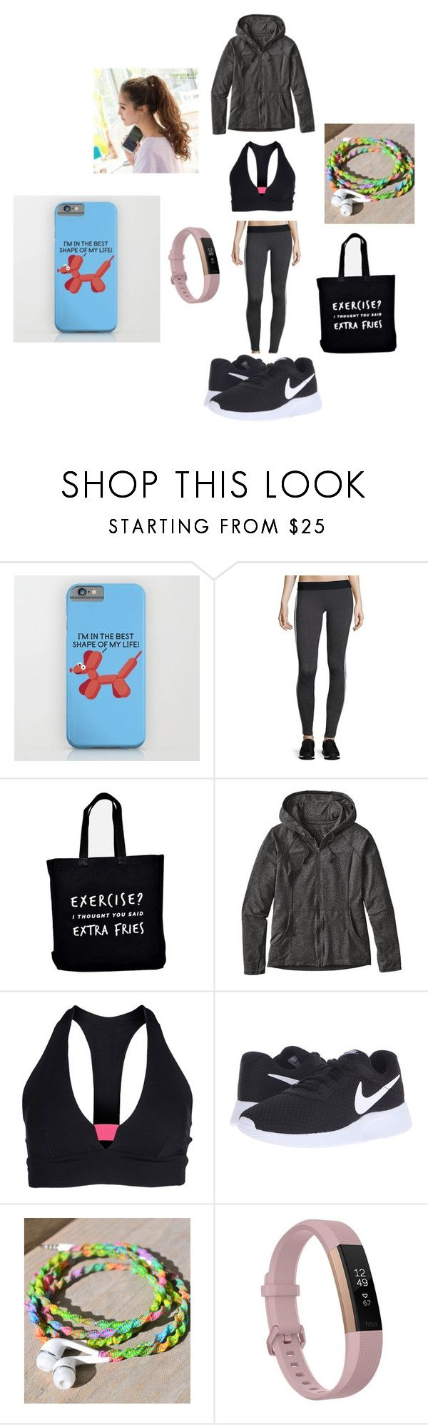 """""""Exercise!"""" by taco-lambert ❤ liked on Polyvore featuring Heroine Sport, Ellie Ellie, Patagonia, Port de Bras, NIKE and Fitbit"""
