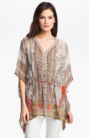 Alberto Makali Scarf Print Silk Tunic & Camisole | Nordstrom