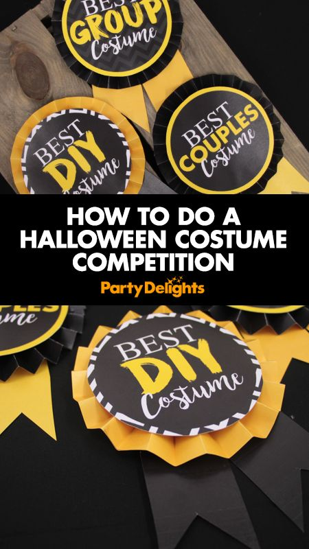 Throwing a Halloween party? Find out how to do a Halloween costume competition and download our free printable Halloween costume competition rosettes - the perfect prize for your Halloween costume contest! Simply download our free Halloween printables to find out what to do.