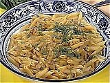 Pasta with Pumpkin and Sausage Recipe - this is one of my favorite fall recipes. I change the recipe a little bit by using turkey sausage, dried sage, apple cider in place of the wine, and whole wheat pasta. Really good (even Justin likes it)!!