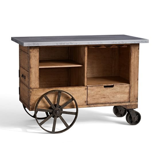 $1,700 is too much, but this Pottery Barn bar cart is really neat.