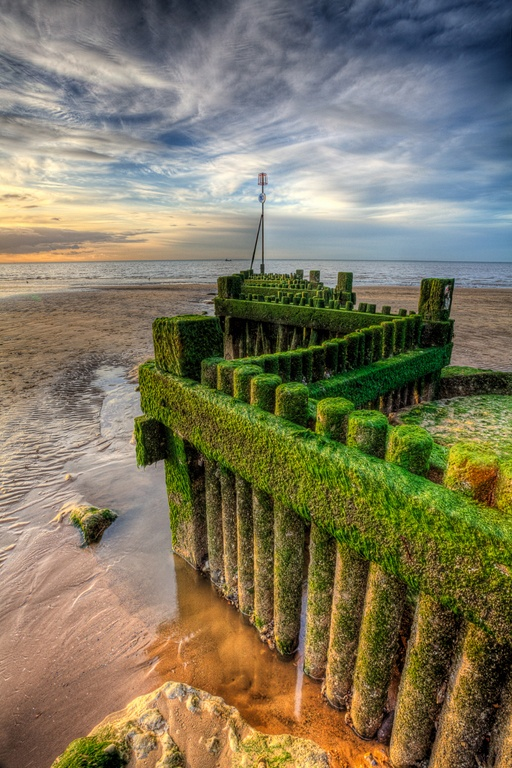 Norfolk Groynes  Hunstanton