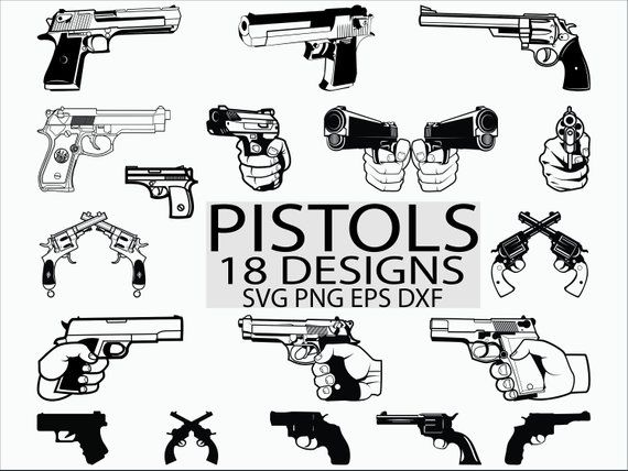 Handgun Enthusiast Gun Rights Pistol Silhouette #4 Car Tablet Vinyl Decal