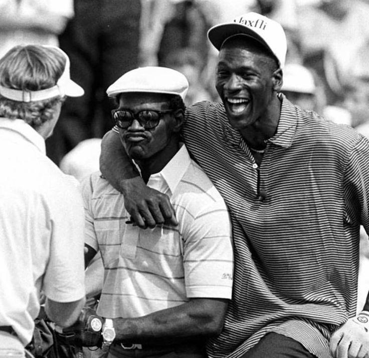 Walter Payton and Michael Jordan