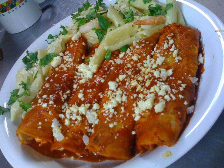 Enchiladas Rojas (Red Enchiladas)
