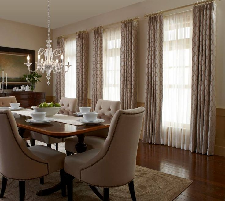 layered draperies add distinction to any room