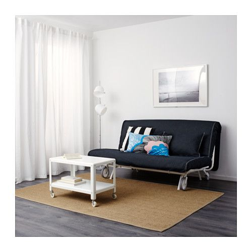IKEA PS HÅVET Two-seat sofa-bed, Vansta dark blue Vansta dark blue -
