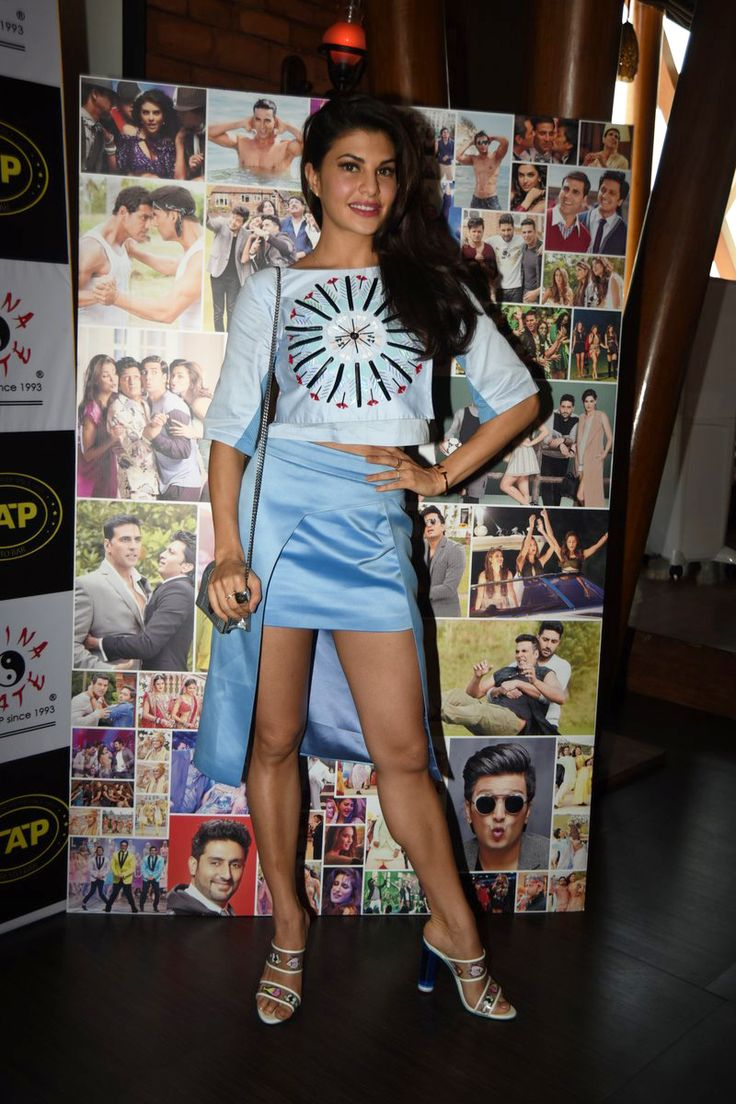 Movieglanz – Jacqueline Fernandez snapped at Housefull 3 promotions