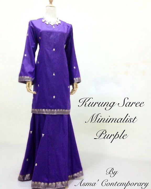 ::: Kurung Saree Minimalist Purple :::  Adik akak minat purrrrpleee??? Ni ada Ready stock size M dearie. Minimalist currently out of stock. Meh siapa cepat dia dapat ya. Whatsapp AC di 0162880503. Ingat saree Ingat AC ya