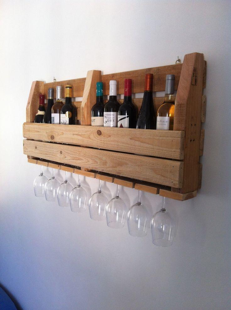 Etagère / Cave à vin murale - Meuble palette