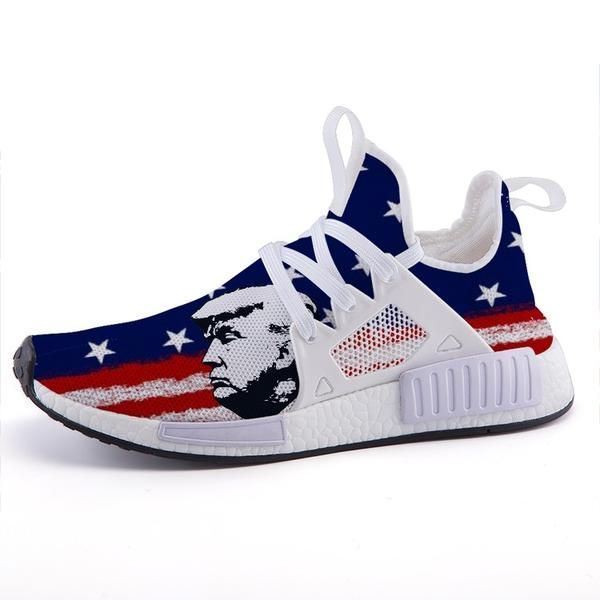 Trump Side View American Flag Nomad Shoes Womens Sneakers American Flag Shoes I Love My Shoes
