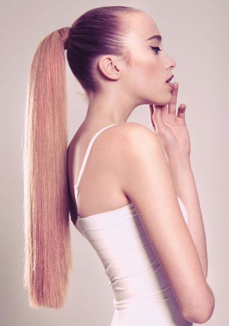 Styled with the Purity Collection by British hairdresser Christopher Appleton; American Salon, February 2013