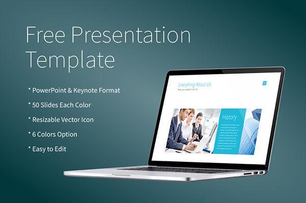 free powerpointkeynote presentation template on behance