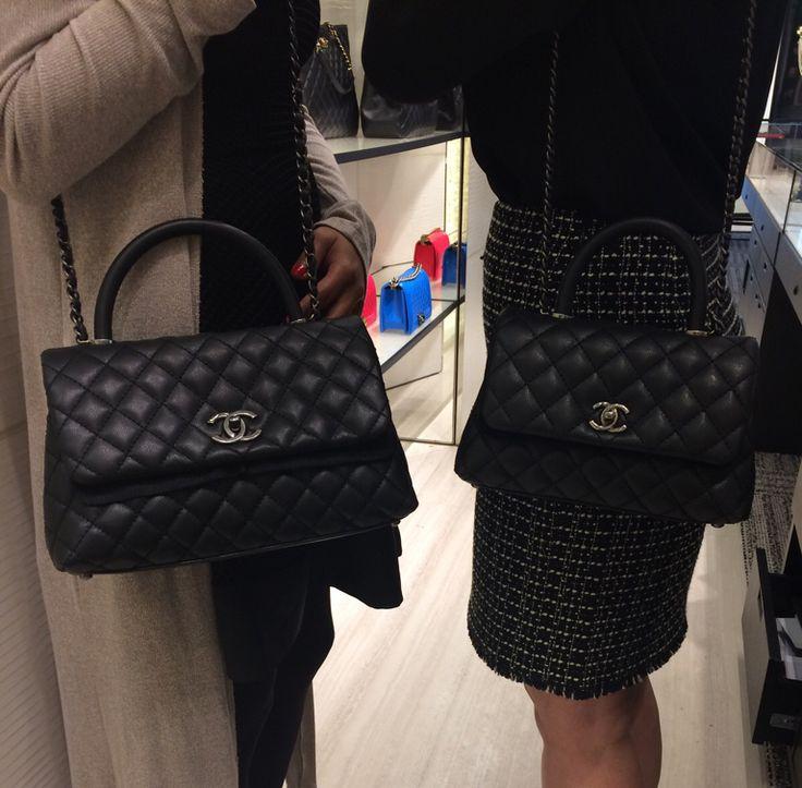 Chanel Black Coco Handle Mini and Small Bags 2
