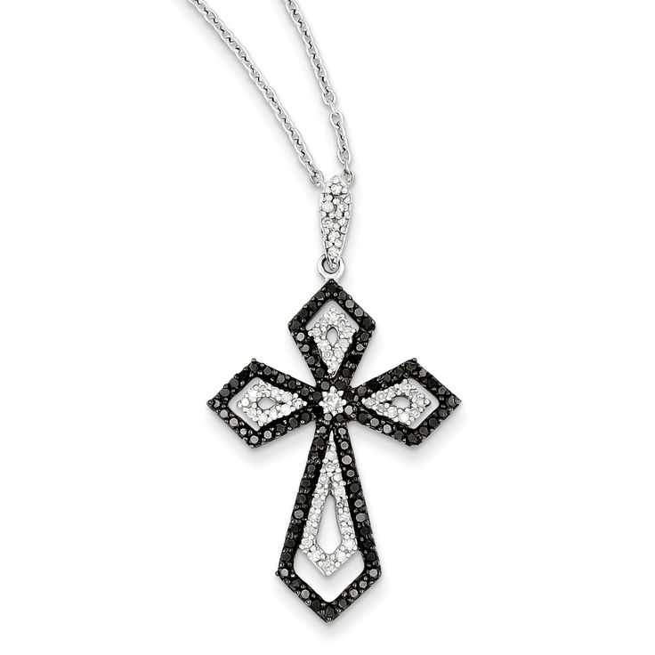 The 21 Best Black Diamond Cross Pendants Images On Pinterest