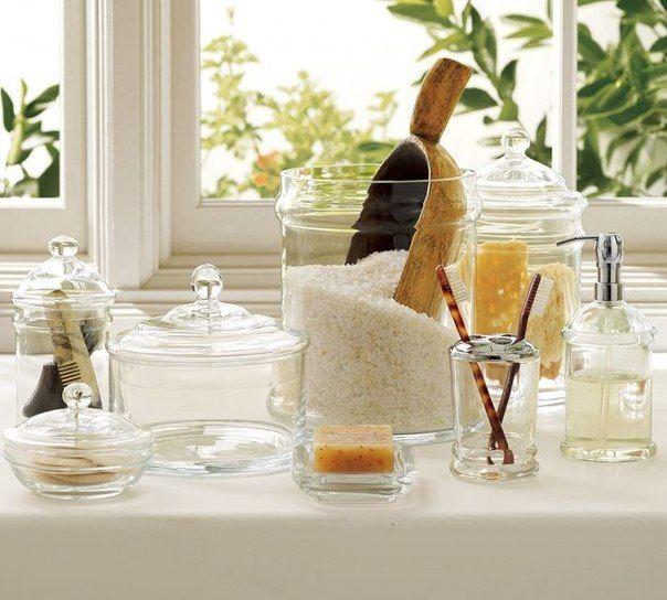 Баночки да вазочки для ванной комнаты...
