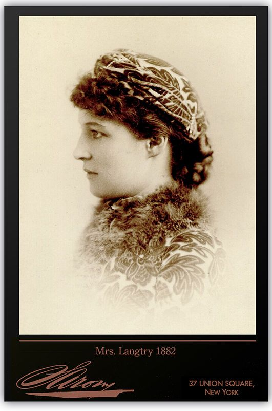 Lillie Langtry By Napoleon Sarony Vintage Photograph A++ Reprint Cabinet Card