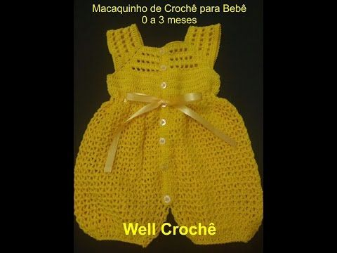 Pap Macaquinho Crochê - Well Crochê - YouTube