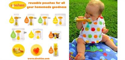 Sinchies reusable pouches are the healthy and environmentally friendly version of the popular throw away yoghurt, smoothie and fruit crush pouches you've seen at the supermarket loved by kids and parents alike. Sinchies reusable pouches are the healthy and environmentally friendly version of the popular throw away yoghurt, smoothie and fruit crush pouches you've seen at the supermarket loved by kids and parents alike.