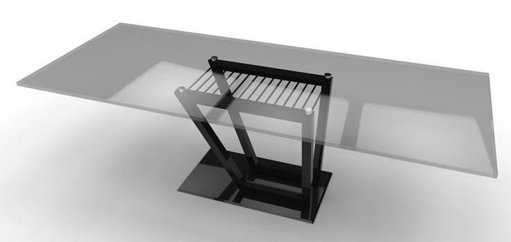 Tavolo in cristallo e acciaio Glass and steel table, Roma, 2014 - Antonio Aurigemma