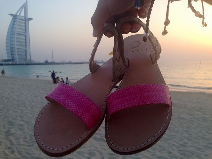 Amaryllis pink 100% leather sandals spotted again !