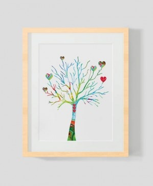 White Tree of Hearts - Unframed