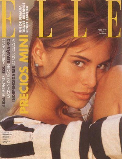 """ Elle Spain, April 1992. Model: Niki Taylor. """