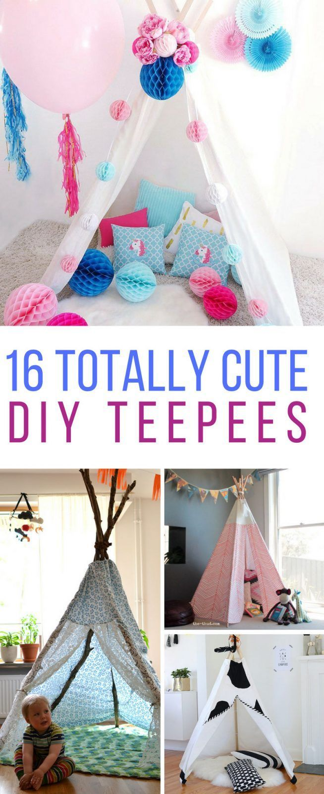 These DIY teepees are brilliant! Thanks for sharing!