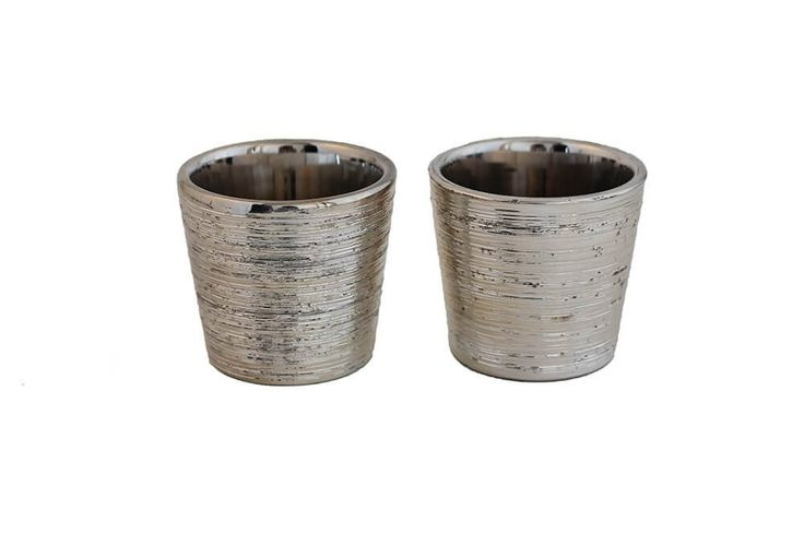 Candleholder - Silver T-light Set of 2