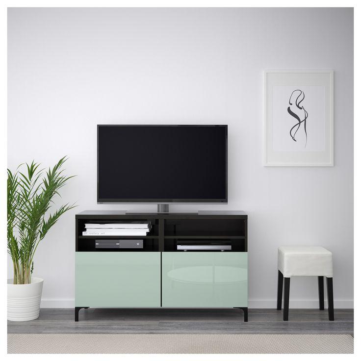 best tv unit with doors blackbrown selsviken graygreen