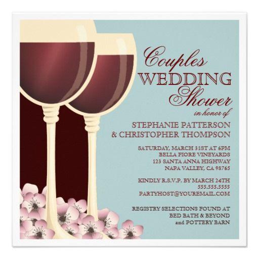 Couples Wedding Shower Wine Themed Invitation
