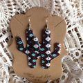 Cowgirl Gypsy Earrings AZTEC Cactus N...