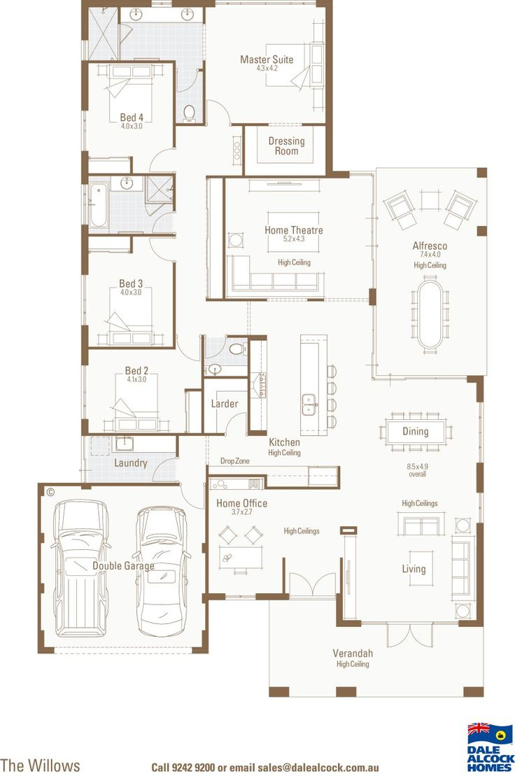Love this for a one level- but I'd still want a basement and wouldn't mind a larger garage....hard to loose all that space considering the size of our current garage.