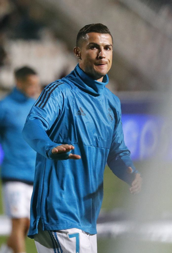 Cristiano Ronaldo Photos - Real Madrid's Portuguese forward Cristiano Ronaldo warms-up ahead of the UEFA Champions League Group H match between Apoel FC and Real Madrid on November 21, 2017, in the Cypriot capital Nicosia's GSP Stadium.  / AFP PHOTO / Jack GUEZ - APOEL Nikosia v Real Madrid - UEFA Champions League