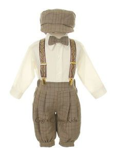 New Toddler Boys Ivory Beige Knickers Vintage Suit Outfit Easter Christmas IBE | eBay