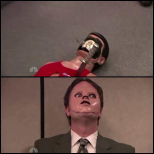 Hahahaha, one of my favorite Dwight moments