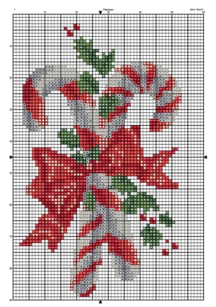 Candy cane cross stitch.