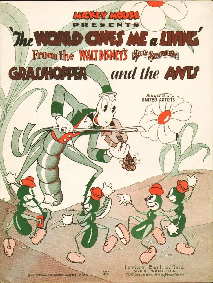 WALT DISNEY´S SILLY SYMPHONY: THE GRASSHOPPER AND THE ANTS // usa // Walt Disney  1934