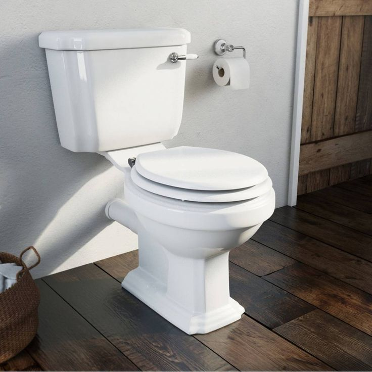 Combining classic style with modern function, this beautiful close coupled toilet from our Dulwich suite will help transform any bathroom into a traditional masterpiece.This elegantly crafted toilet features a soft close white MDF seat for that traditional look and feel. Plus, at 400mm in width, it is suited to master bathrooms, ensuites and cloakrooms alike and be complemented with a basin from the same range.Adding to the traditional theme, this close coupled toilet features a ceramic…