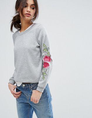 Vero Moda Floral Embroidered Sweater
