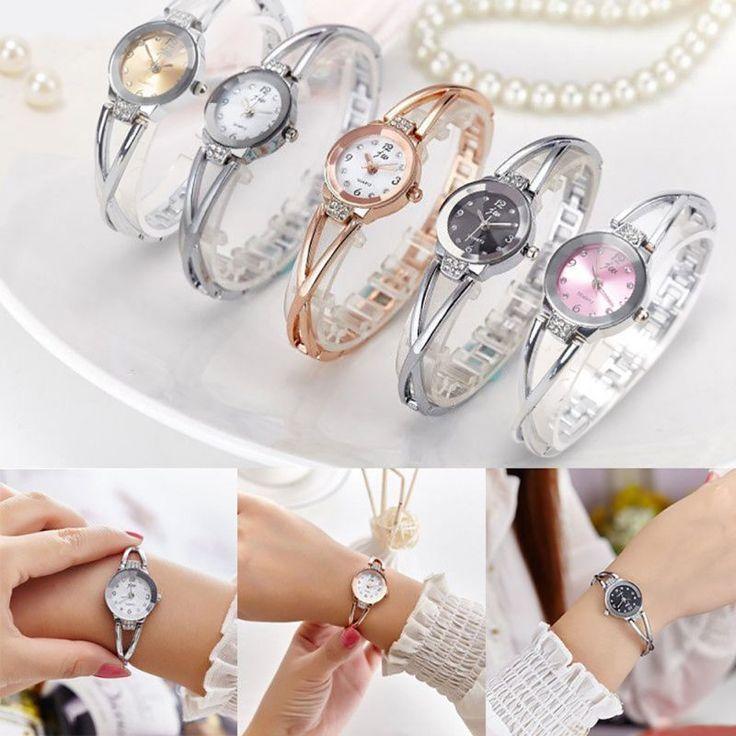 New Women Bracelet Watches Quartz Rhinestone Wrist Watch Girl Wristwatch Watch #Unbranded