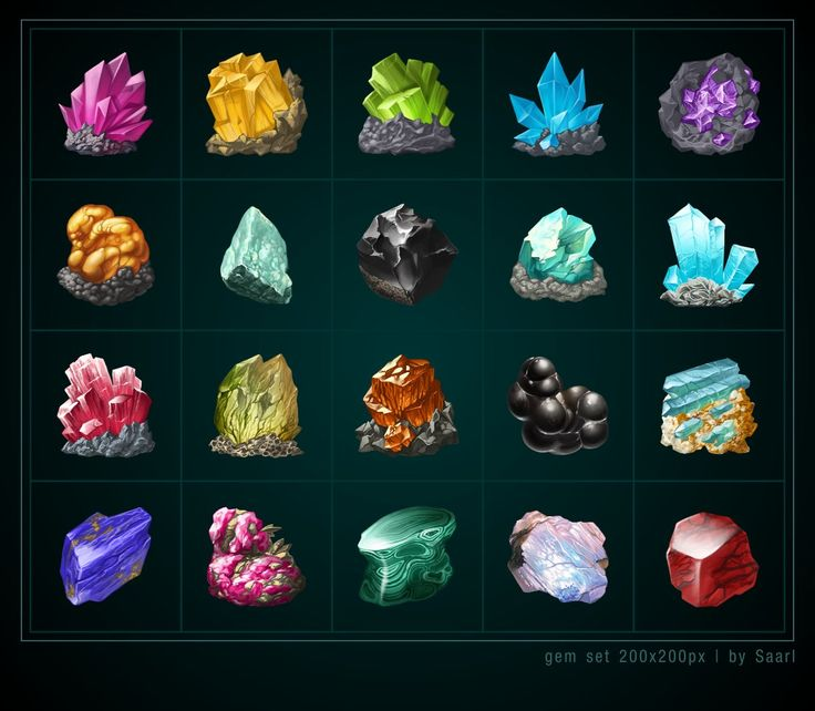 Gem icons, Sylwia Smerdel on ArtStation at https://www.artstation.com/artwork/gem-icons-aa3ed492-2f34-4c57-8f99-10ac75120cf7